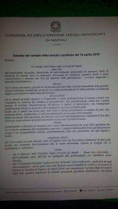 Gli avvocati napoletani in stato di agitazione. Astensione per i giorni 15-16-17 aprile