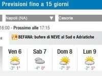 Campania. Allerta Meteo. Brusco calo delle temperature anche a Casoria