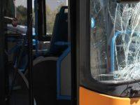 Scampia. Atti vandalici contro bus a Scampia.