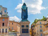 Statue of Gordano Bruno who was burned alive in Campo de Fiori in Rome on February 17, 1600