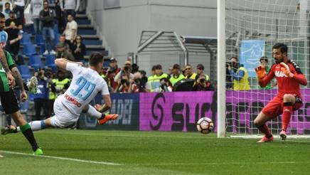 Sassuolo – Napoli 2-2 : azzurri che sprecano una grande occasione per mettere pressione alla Roma