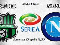 Sassuolo-Napoli di domenica alle 12:30, orario poco gradito a Sarri