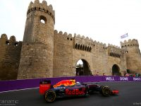 BAKU, AZERBAIJAN - JUNE 17: Daniel Ricciardo of Australia driving the (3) Red Bull Racing Red Bull-TAG Heuer RB12 TAG Heuer on track during practice for the European Formula One Grand Prix at Baku City Circuit on June 17, 2016 in Baku, Azerbaijan.  (Photo by Dan Istitene/Getty Images)