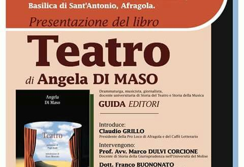 """Presentazione del libro """"Teatro"""". Domani 22 ottobre, nella sala Padre Ludovico da Casoria"""