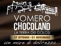 """""""Vomero Chocoland – La Terra dei Golosi"""", torna a Napoli il festival del cioccolato. Ultimo appuntamento domani 1 novembre"""
