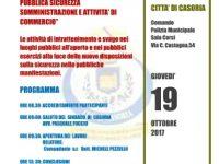 Giovedì 19 ottobre giornata formativa gratuita promossa dalla Polizia Municipale di Casoria