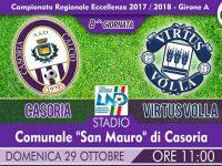 Casoria, Stadio San Mauro: domenica alle 11.00 contro la Virtus Volla per riprendere la marcia.