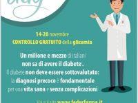 DiaDay, (Giornata Mondiale del Diabete). La prima campagna nazionale per lo screening del diabete in farmacia, dal 14 al 20 novembre 2017