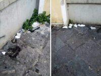 I cittadini segnalano: resti di wc all'esterno della scuola San Mauro