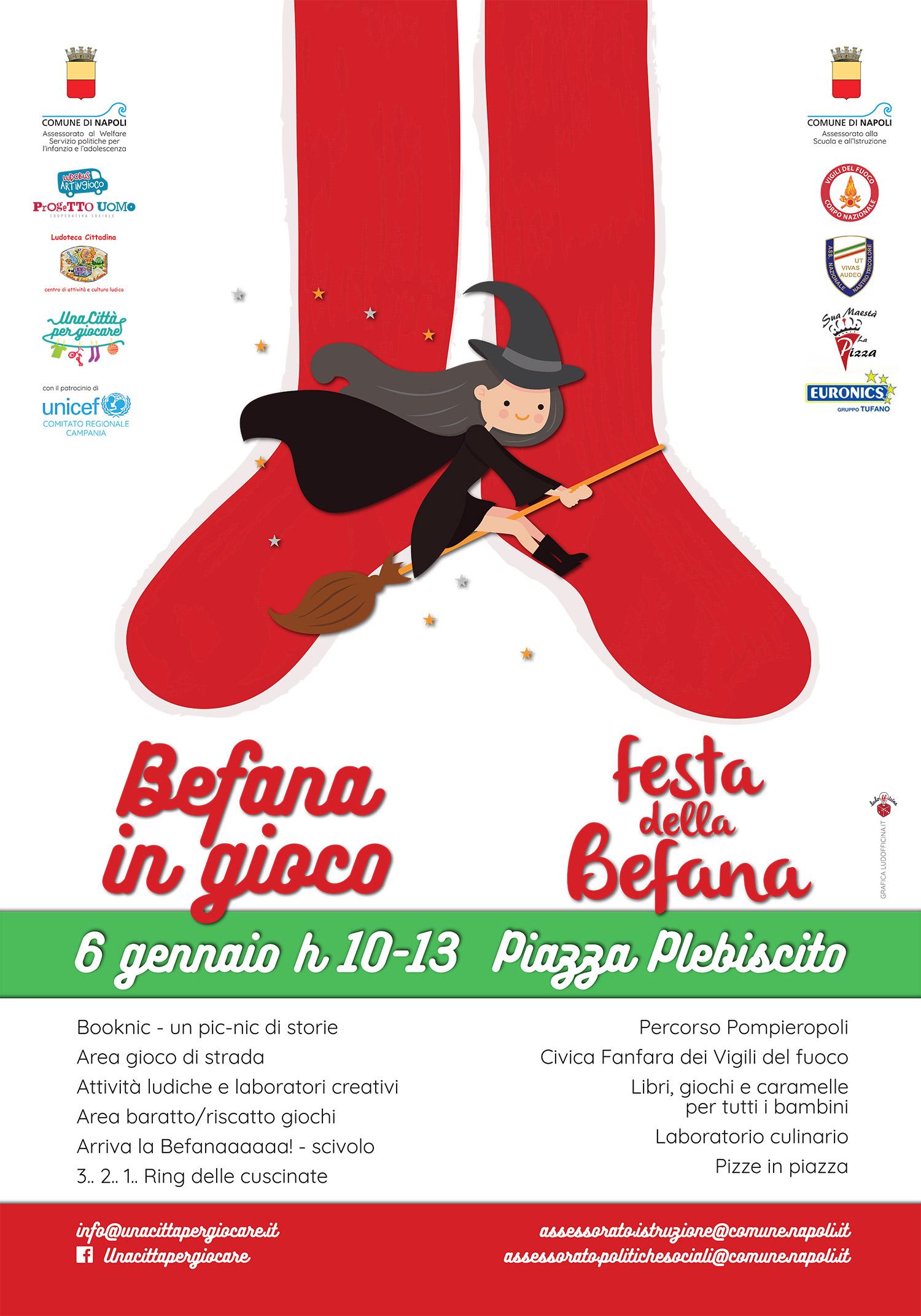 Locandina Festa Befana 2018 Napoli Il Giornale Di Casoria