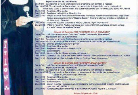 Quattro giorni con Santa Cristina Brando