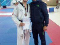 """Taekwondo, campionati Italiani categorie olimpiche, medaglia di bronzo per Giuseppe Bassi del """"Centro azzurro Taekwondo Casoria"""""""