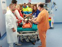 Sanità, al neo pronto soccorso CTO di Napoli, simulazione di un intervento di 118