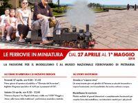 """Al Museo Nazionale Ferroviario di Pietrarsa """" Ferrovie in miniatura"""". Dal 27 aprile al 1 maggio 2018"""