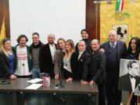 """La prima proiezione del cortometraggio """"Liliana"""" a Palazzo Matteotti."""