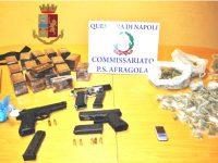 Polizia di Stato arresta un incensurato trovato in possesso di 3 pistole e di un  ingente quantità di droga di vario genere, l'uomo si stava dirigendo a Casoria