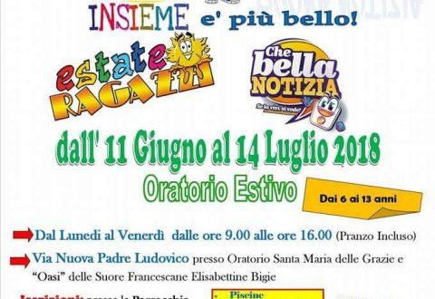 Oratorio estivo: arriva la Cittadella della buona notizia.