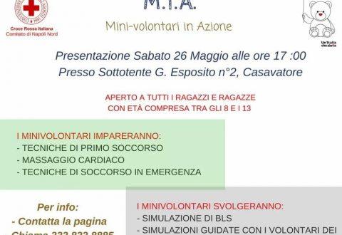 Casavatore: Progetto M. I. A. (MINI VOLONTARI IN AZIONE).