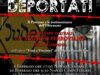 """Il 25 maggio alle ore 9:30 """"Deportati"""" arriva nella Stazione Ferroviaria di Napoli Mergellina"""