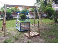 Villa comunale via Pio XII: al via l'installazione delle giostre per disabili