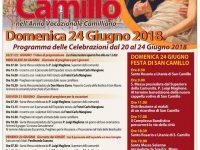 Festa di San Camillo: programma delle celebrazioni dal 20 al 24 giugno.