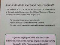 Consulta delle persone con disabilità:  il Comune di Casoria annuncia la conferenza