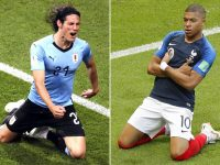 Archiviati gli ottavi, apre i quarti Uruguay-Francia venerdì alle 16
