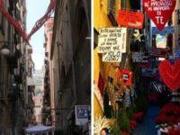 Il vicolo più fotografato di Napoli ora è spoglio