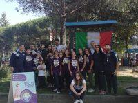 I campioni d'Italia 2018 U12 volley misto del Casoria Volley, premiati in villa comunale