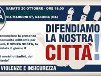 """""""Difendiamo la nostra città contro violenze e insicurezza"""", incontro domani in via Marconi organizzato da Fratelli D'Italia"""