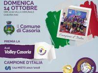 Casoria premia il volley: appuntamento per tutti domenica presso la Villa Comunale
