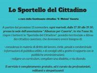 """Presso la sede dell'associazione """"Alleanza per Casoria"""", riapre lo sportello del cittadino."""