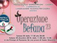 """Casoria, Fratelli D'Italia: al via la 23° edizione di """"Operazione Befana""""."""