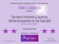 """Il fotografo Casoriano Fabio Carrasta premiato a livello internazionale, lui stesso ha dichiarato: """"E' il secondo anno consecutivo!"""""""