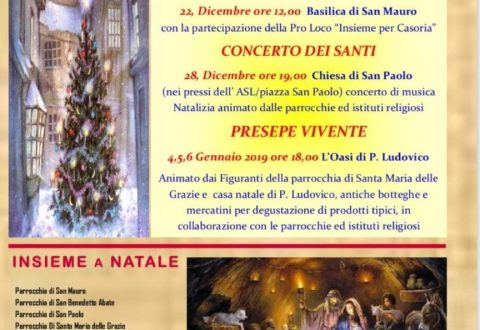 Eventi per il Santo Natale nella terra dei Santi: Casoria si prepara a festeggiarlo al meglio!