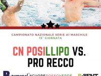 Pallanuoto: Sabato 26 Gennaio CN Posillipo-Pro Recco all'Alba Oriens di Casoria