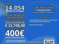 """""""Io studio"""": 14.054 borse di studio dalla Regione Campania per studenti provenienti da famiglie con reddito basso"""
