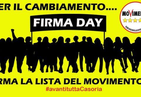 """""""Per il cambiamento firma day…"""" evento organizzato dal movimento Cinquestelle Casoria"""