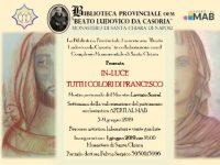 'In luce – tutti i colori di Francesco' alla Biblioteca di Casoria