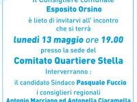 Il candidato sindaco Fuccio e i consiglieri regionali Marciano e Ciaramella incontrano il Comitato Quartiere Stella.