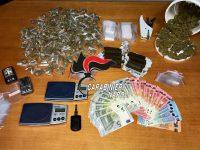 Incensurato arrestato dai carabinieri per detenzione di hashish e marijuana