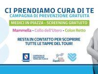 """Tour prevenzione gratuita """"Ci prendiamo cura di te"""" ecco le date a Casoria"""