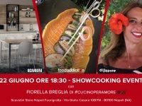 A Fuorigrotta lo show-cooking di cucina artistica con FoodAddiction in Store Fiorella Breglia porta in tavola la sua passione napoletana con un piatto mediterraneo