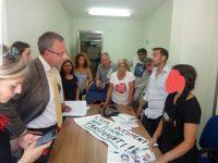 Il Sindaco Raffaele Bene incontra la comunità Rom di Casoria. Un successo all' insegna dell' altruismo e della civiltà