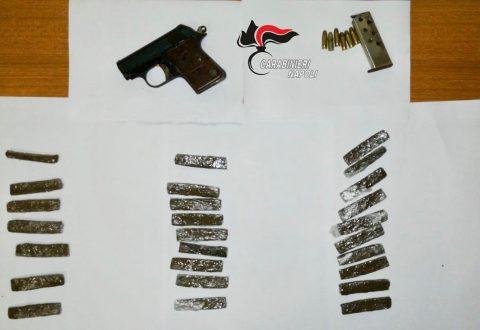 Addosso arma e droga. 22Enne arrestato dai carabinieri della sezione operativa di Casoria