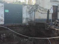Casoria: il terreno di Largo San Mauro frana, lo sdegno dei cittadini
