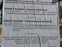 Commemorazione dei Defunti: ecco gli orari delle celebrazioni
