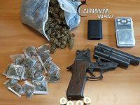 AFRAGOLA: Una pistola e 200 grammi di marijuana. Sequestro dei carabinieri nel rione Salicelle