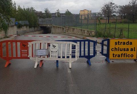 Casoria, condizioni meteo: chiuso ancora il sottopassaggio in Via Pietro Nenni
