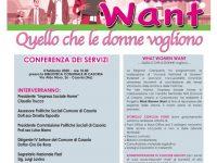 What Women Eant, conferenza dei servizi martedì 4 febbraio 2020 ore 10.00 presso la Biblioteca Comunale